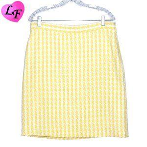 BANANA REPUBLIC Skirt Houndstooth Yellow Size 10P